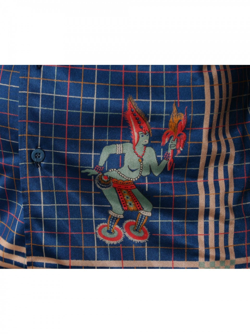 Nik Nik 1970s Men's Blue Shirt