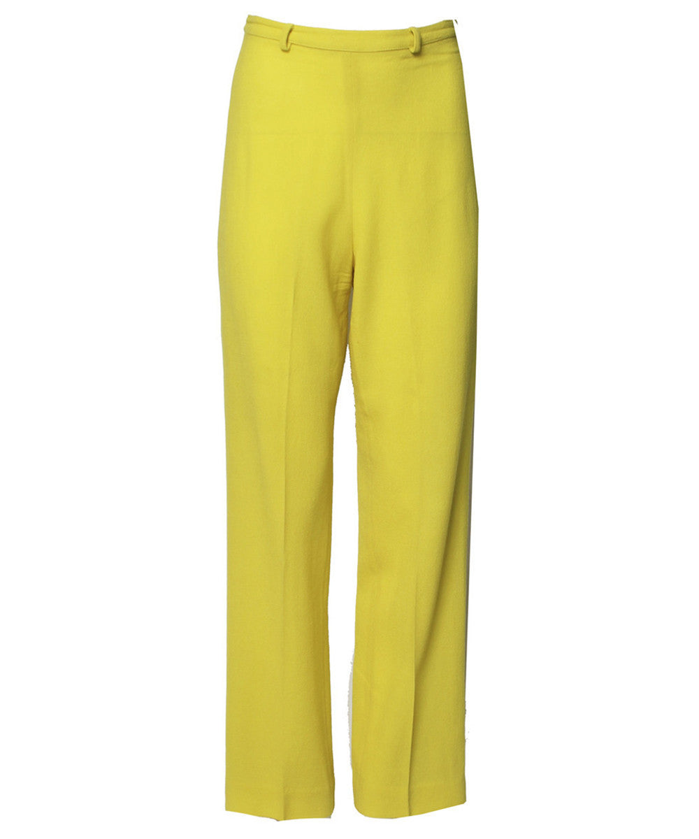Istante by Versace Yellow Trousers - C.Madeleine's