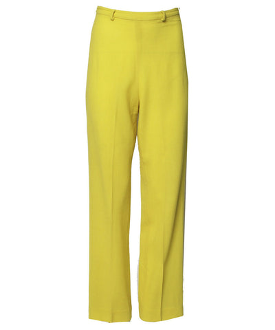 Istante by Versace Yellow Trousers