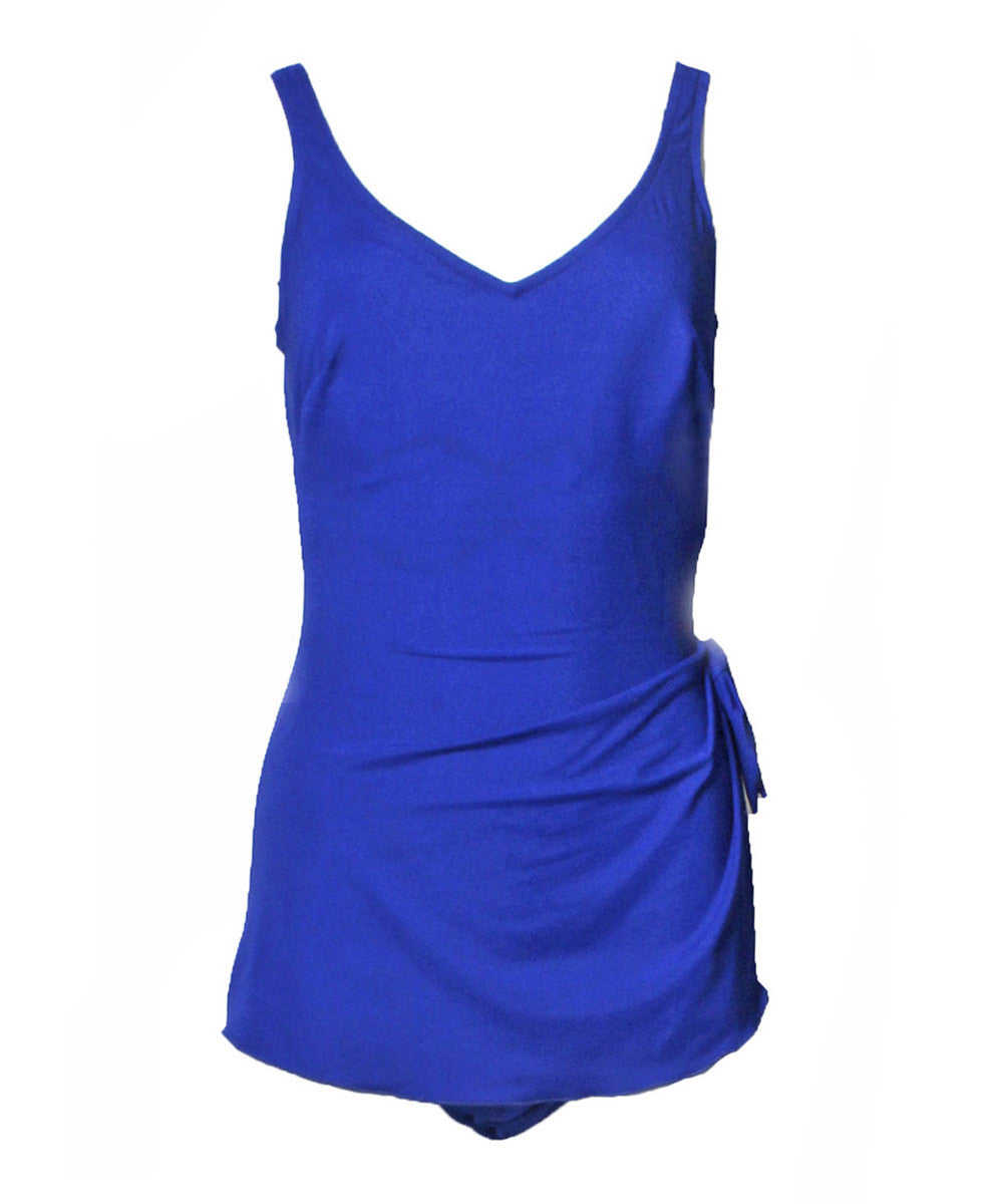 Roxanne Couture 1970s Royal Blue Bathing Suit - C.Madeleine's