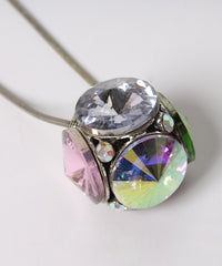 PRINT - Multicolor Disco Ball Necklace - C.Madeleine's