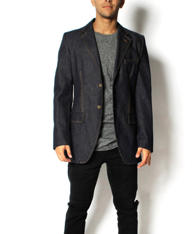 Men's Grey Denim Dolce & Gabbana Denim Blazer