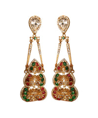 Carlo Zini Chandelier Clip-On Earrings