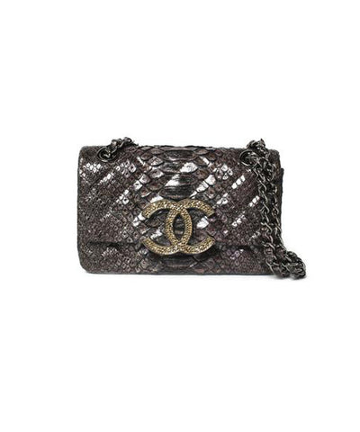 Chanel Mahogany Brown Caviar Leather Wallet on Chain Cross-Body Purse