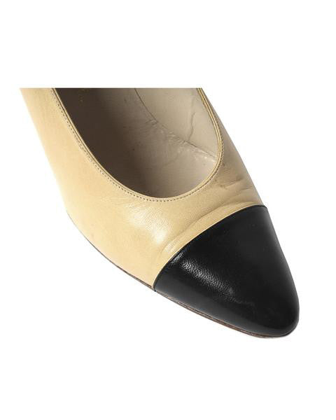 Chanel Two Tone Leather Pumps - C.Madeleine's