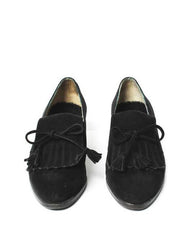Chanel Black Suede Oxfords
