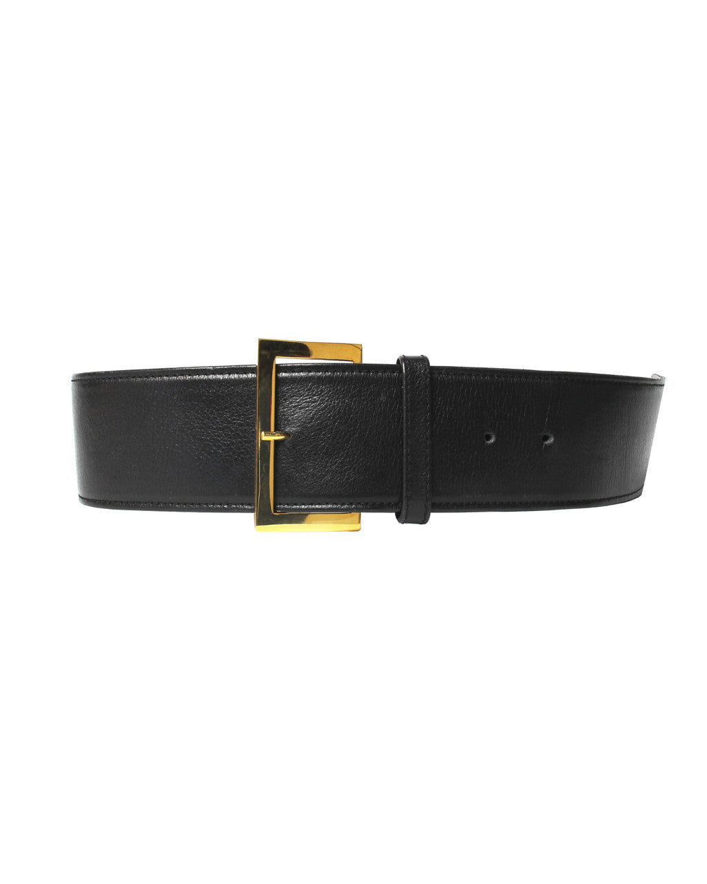 Chanel Extra Wide Black Leather Belt