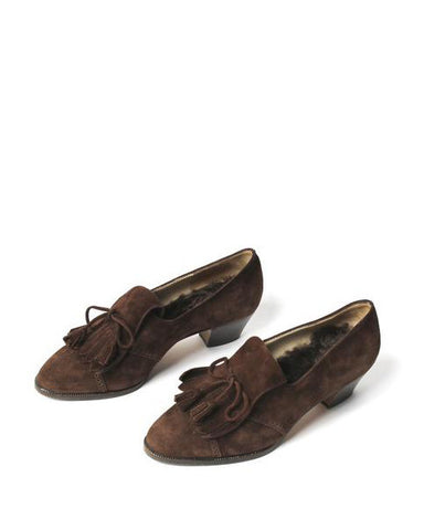 Chanel Brown Suede Oxfords - C.Madeleine's