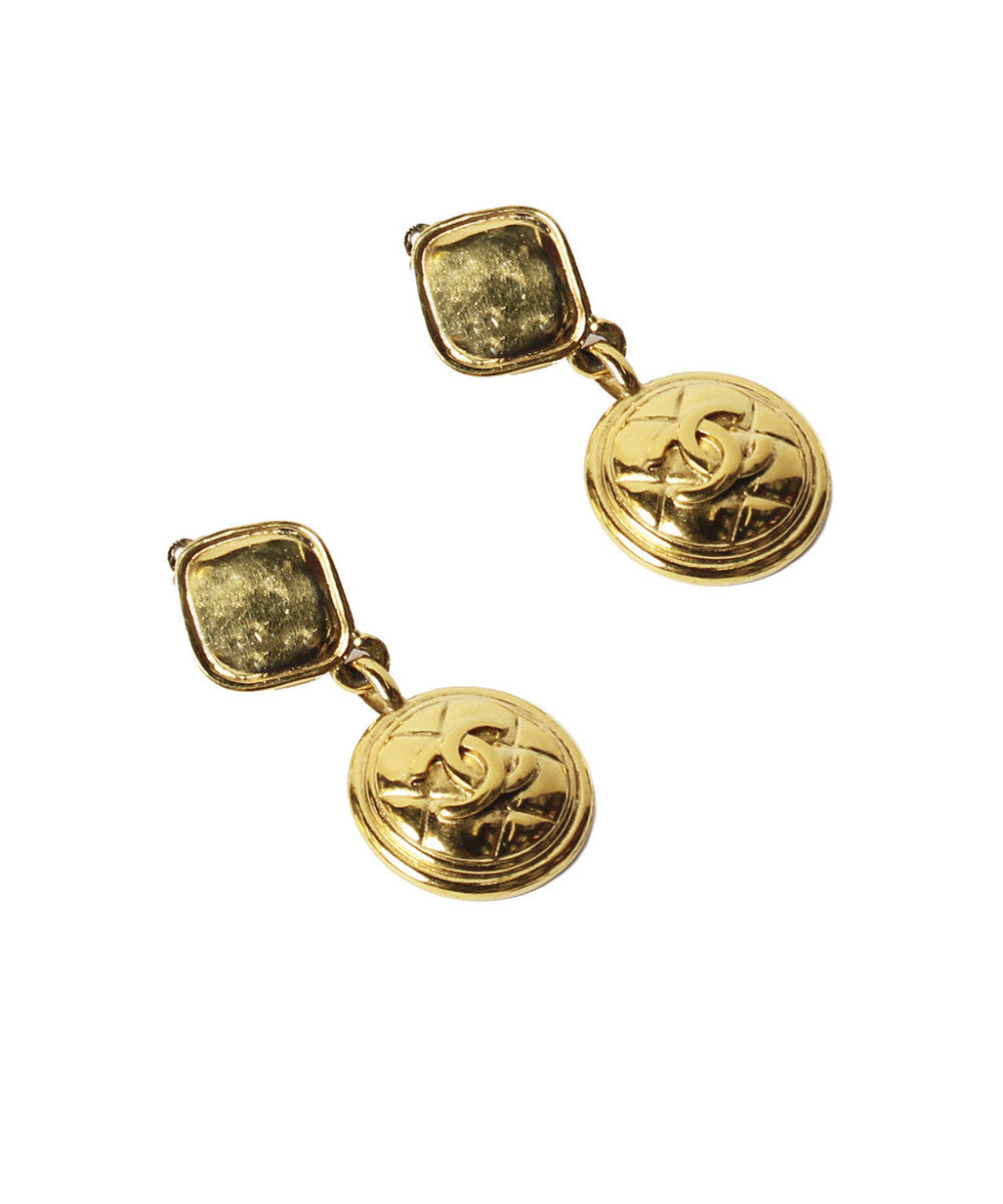Chanel Medallion Earrings