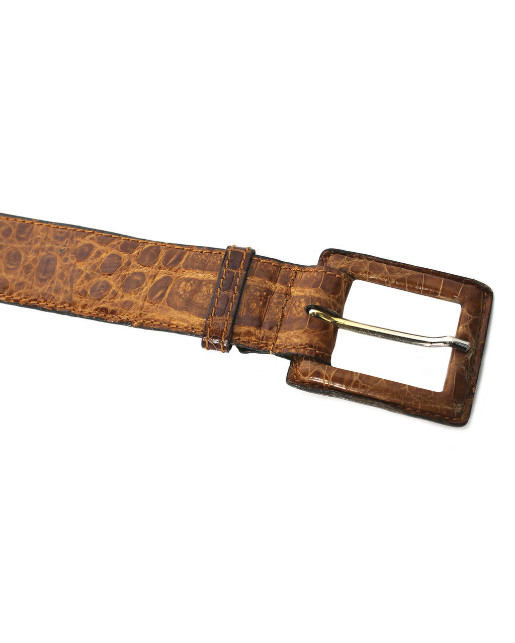 Chanel Tan Crocodile Belt
