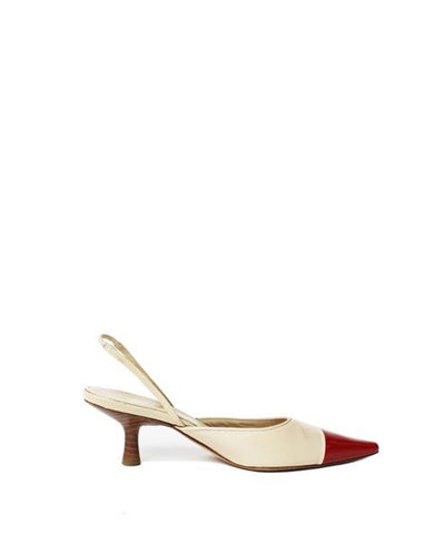 Charles Jourdan T-Strap Puzzle Piece Wedges