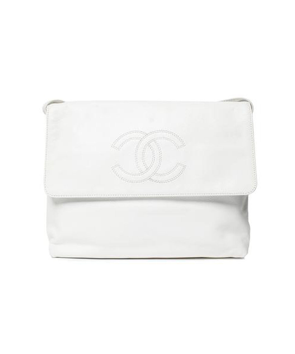 Chanel White Caviar Crossbody Bag