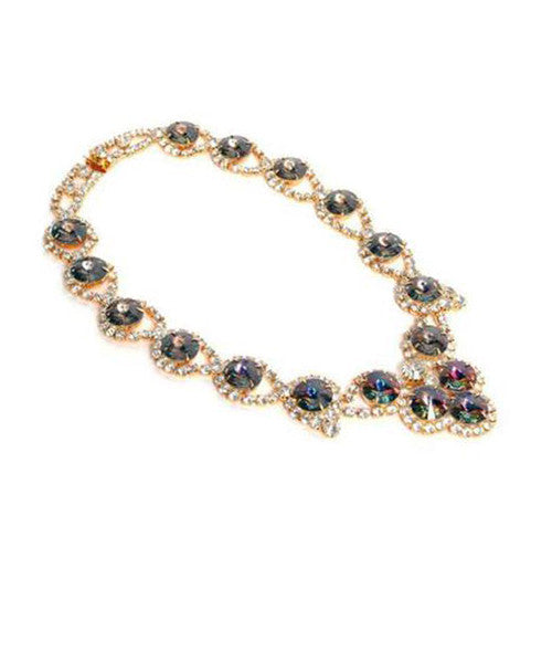 Dominique Amber & Watermelon Rhinestone Choker