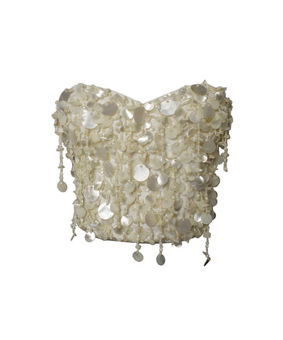 Dolce & Gabbana Mother of Pearl Paillette Corset
