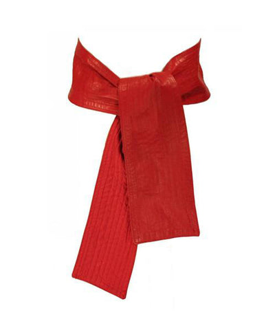 Fendi 1980s Red Leather Reversible Sash
