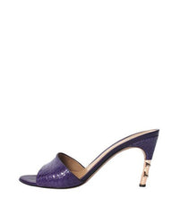 Gucci Violet Crocodile/Alligator Leather Mules - C.Madeleine's