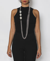A.PROGRESS- YSL Multi Chain Thermoset Necklace and Earring Set - C.Madeleine's