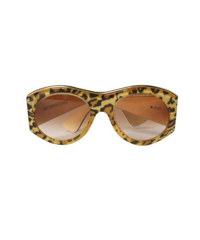 Christian Lacroix Leopard Print Silk Inlay Oversized Sunglasses - C.Madeleine's