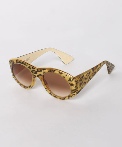 A.PROGRESS- Christian Lacroix Leopard Print Silk Inlay Oversized Sunglasses - C.Madeleine's