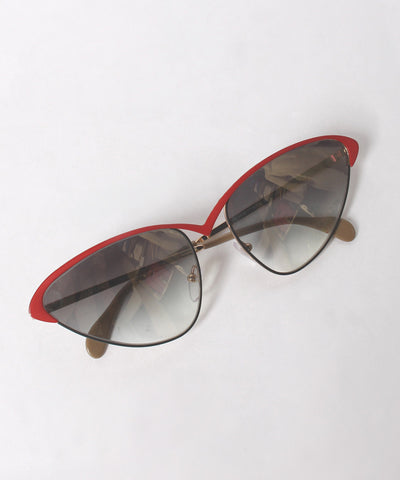 Brendel Black and Red Wire Cat Eye Sunglasses - C.Madeleine's