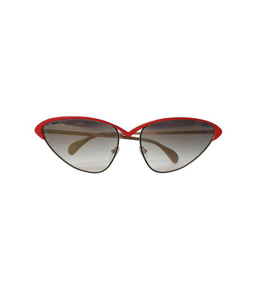 Brendel Black and Red Wire Cat Eye Sunglasses