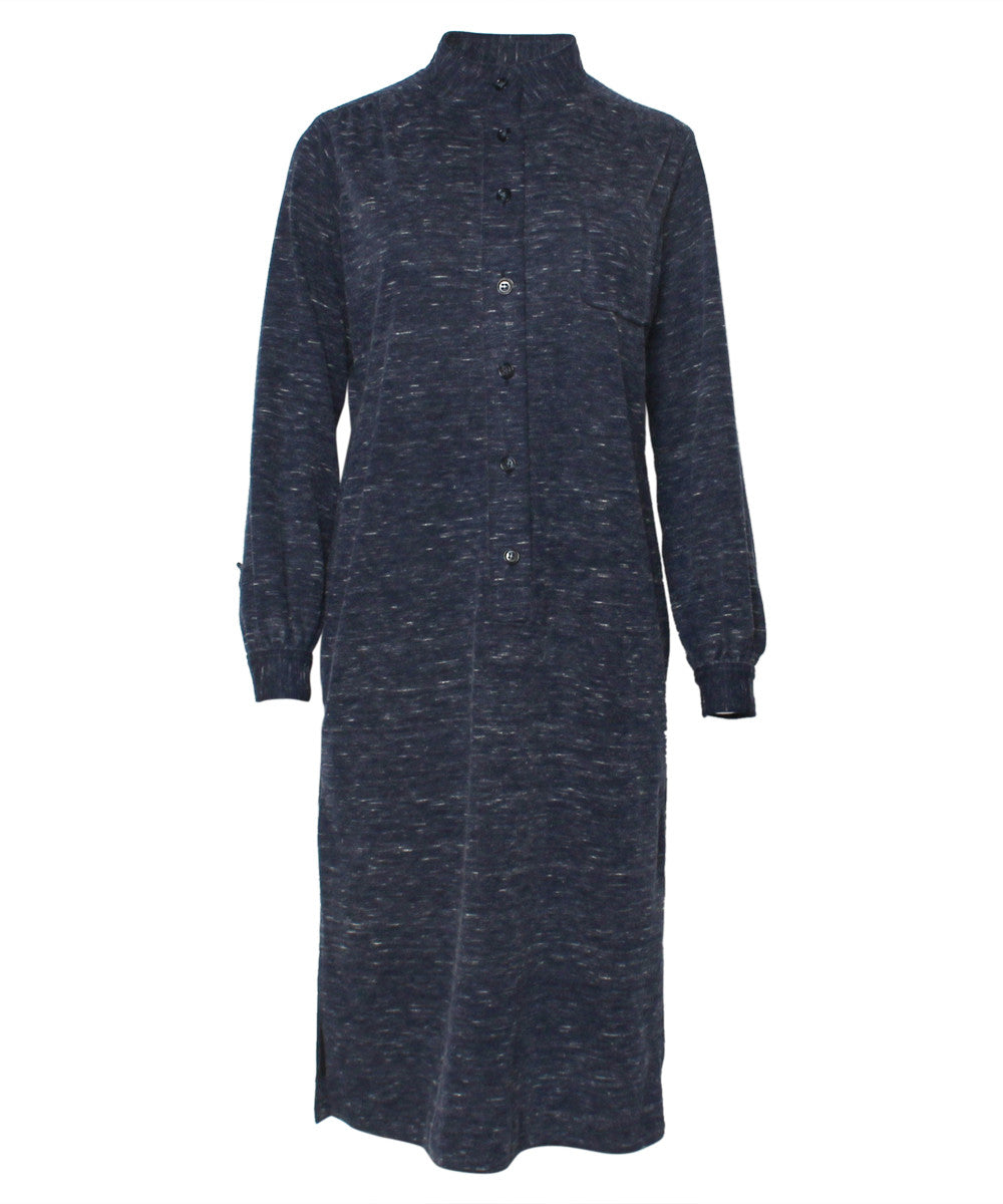 Favorite Saint Laurent Blue Wool Long Sleeve Tunic Dress – C.Madeleine's LN97