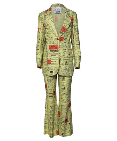 Moschino 1990s Yellow Pages Suit Set