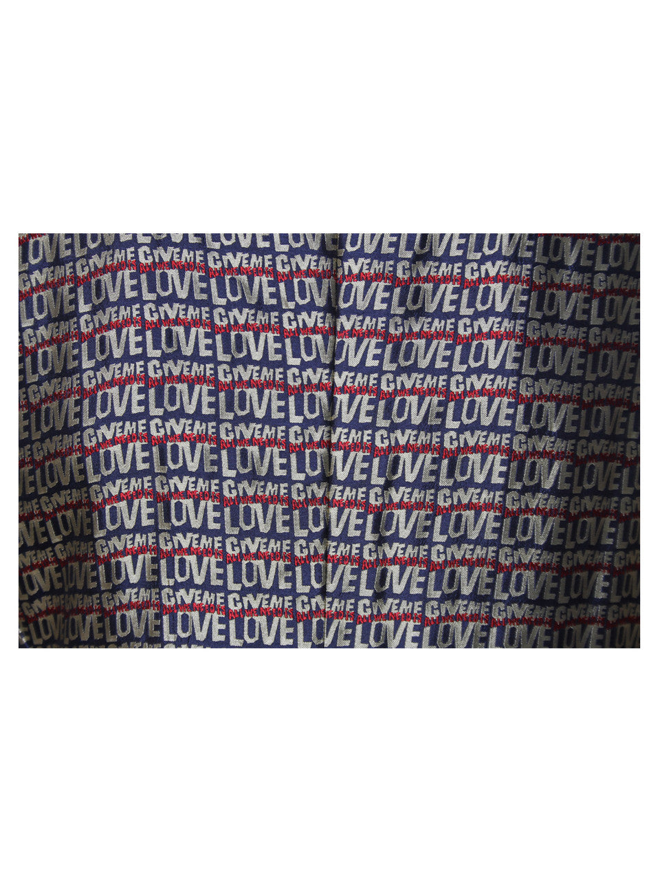 "Moschino Cheap & Chic ""All We Need Is Love"" Printed Blazer"