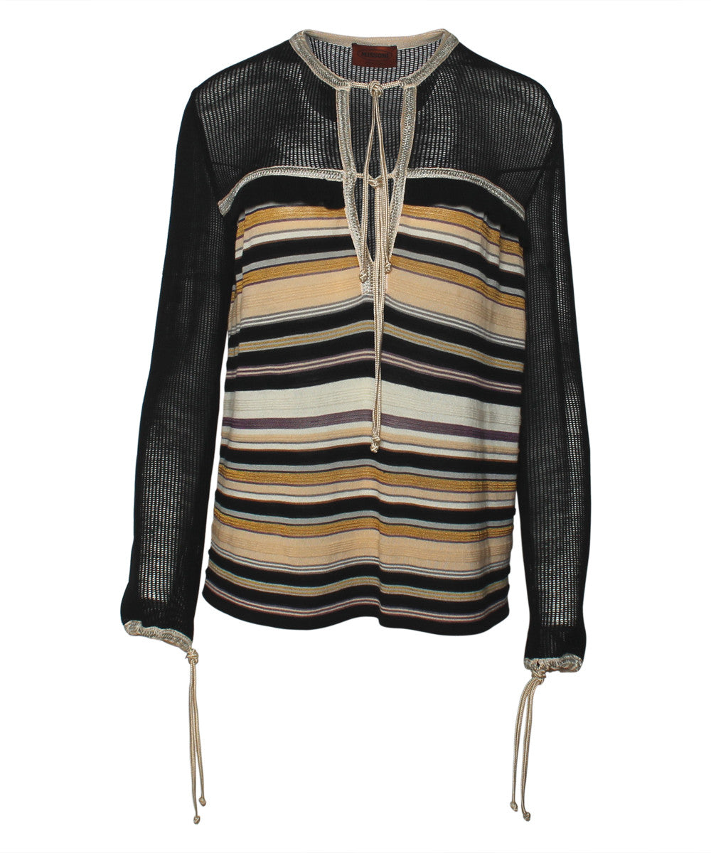 Missoni 1970s Striped Knit Sweater - C.Madeleine's