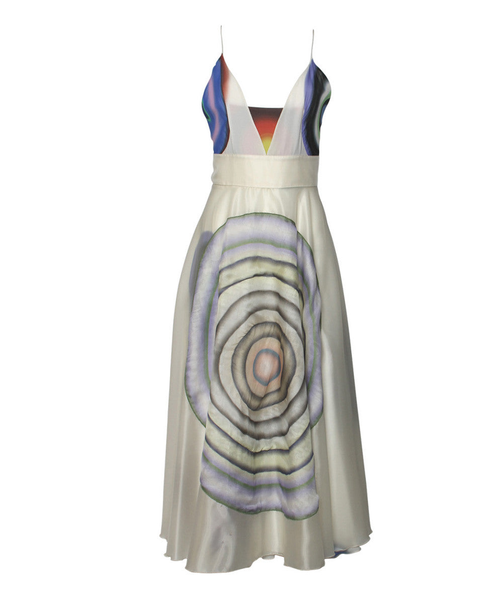 Fendi Circle Print Spaghetti Strap Dress