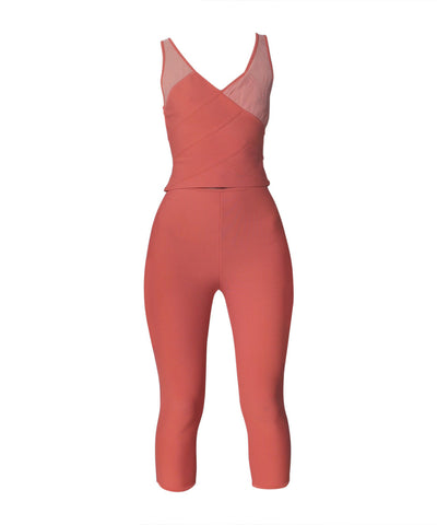 Herve Leger Salmon Tank and Leggings Set