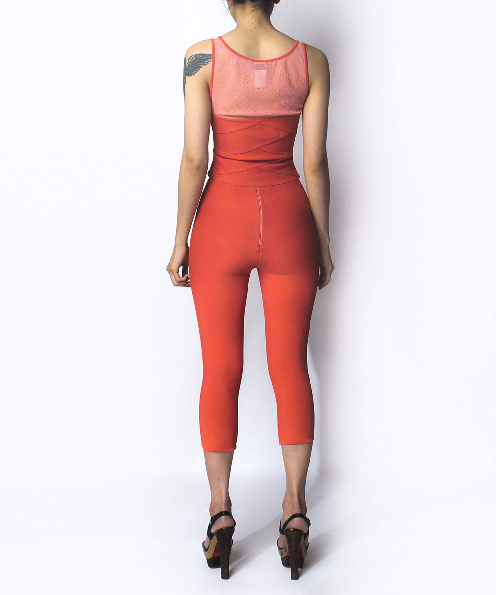Herve Leger Salmon Tank and Leggings Set - C.Madeleine's