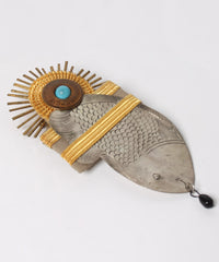 Mixed Metal Fish Brooch - C.Madeleine's