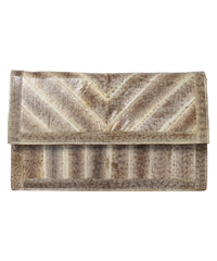 Saldana Genuine Lizard Skin Clutch/ Shoulder Bag - C.Madeleine's