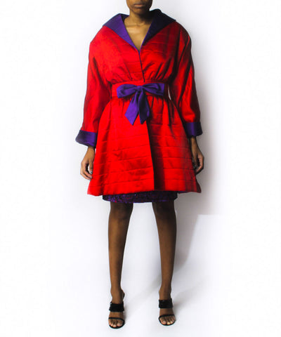 F. Pena Brocade Dress and Coat Set