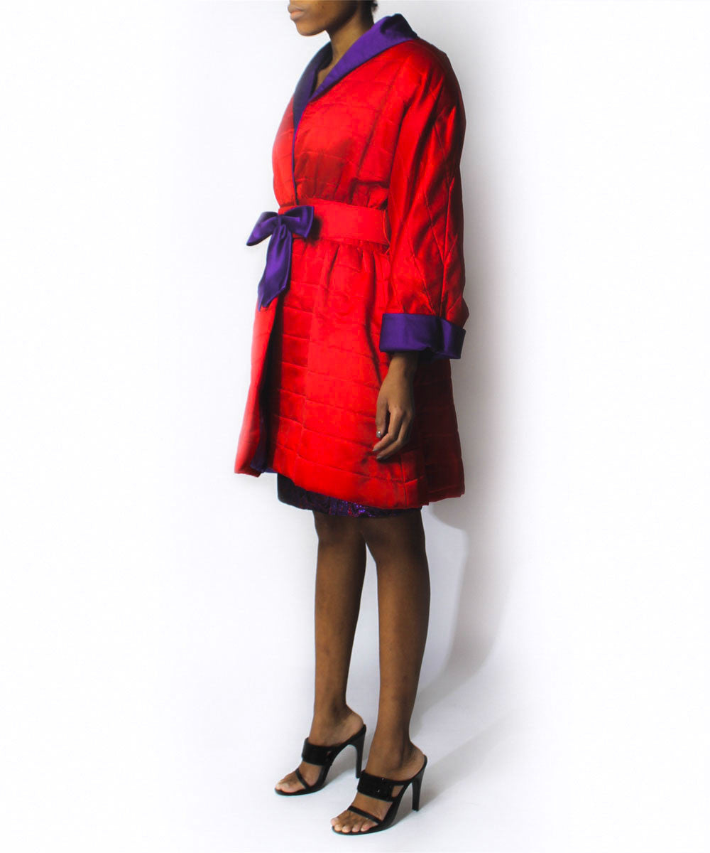 F. Pena Brocade Dress and Coat Set - C.Madeleine's