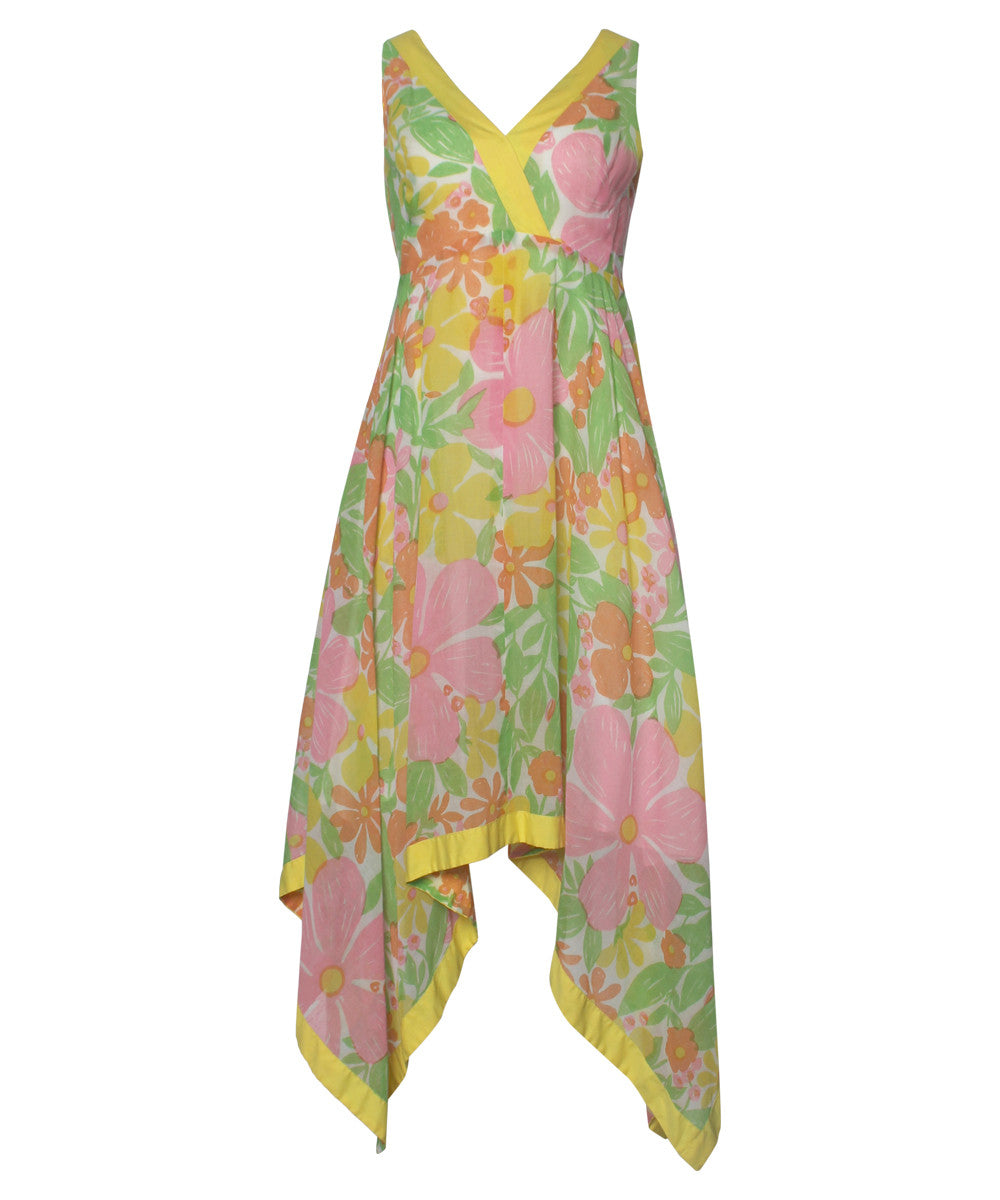 Progress- Daphne Logan 70's Pastel Floral Dress - C.Madeleine's