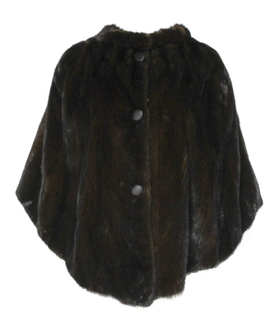 Dark Brown Mink Cape - C.Madeleine's