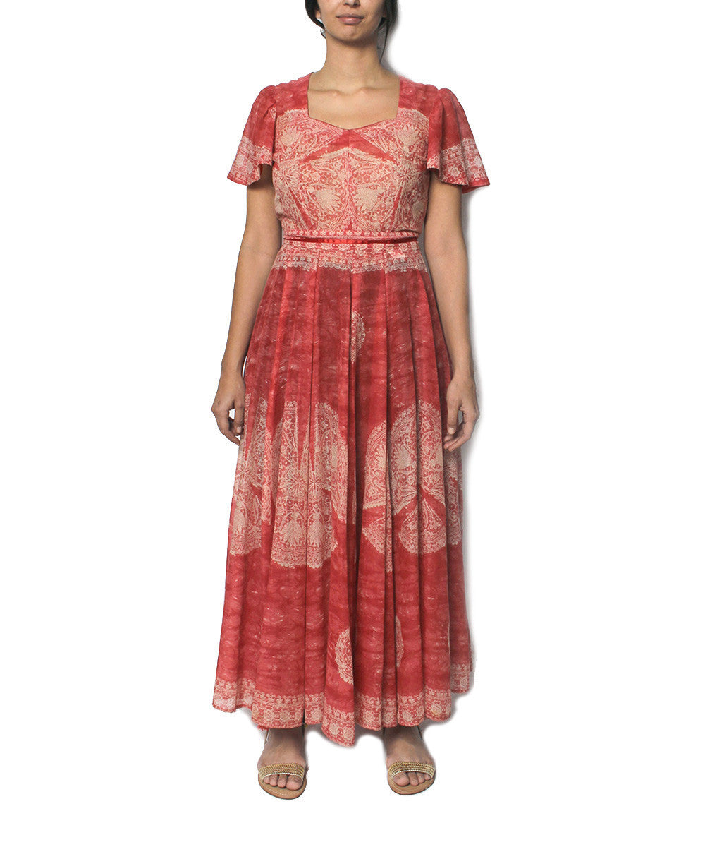 DONE - Bohemian Style Coral Cotton Maxi Dress - C.Madeleine's
