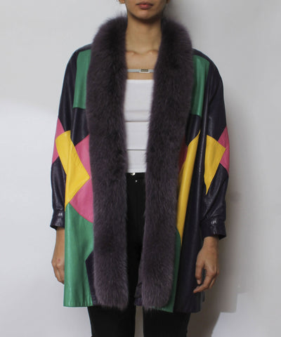 Evans 1980s Multicolor Swing Coat - C.Madeleine's