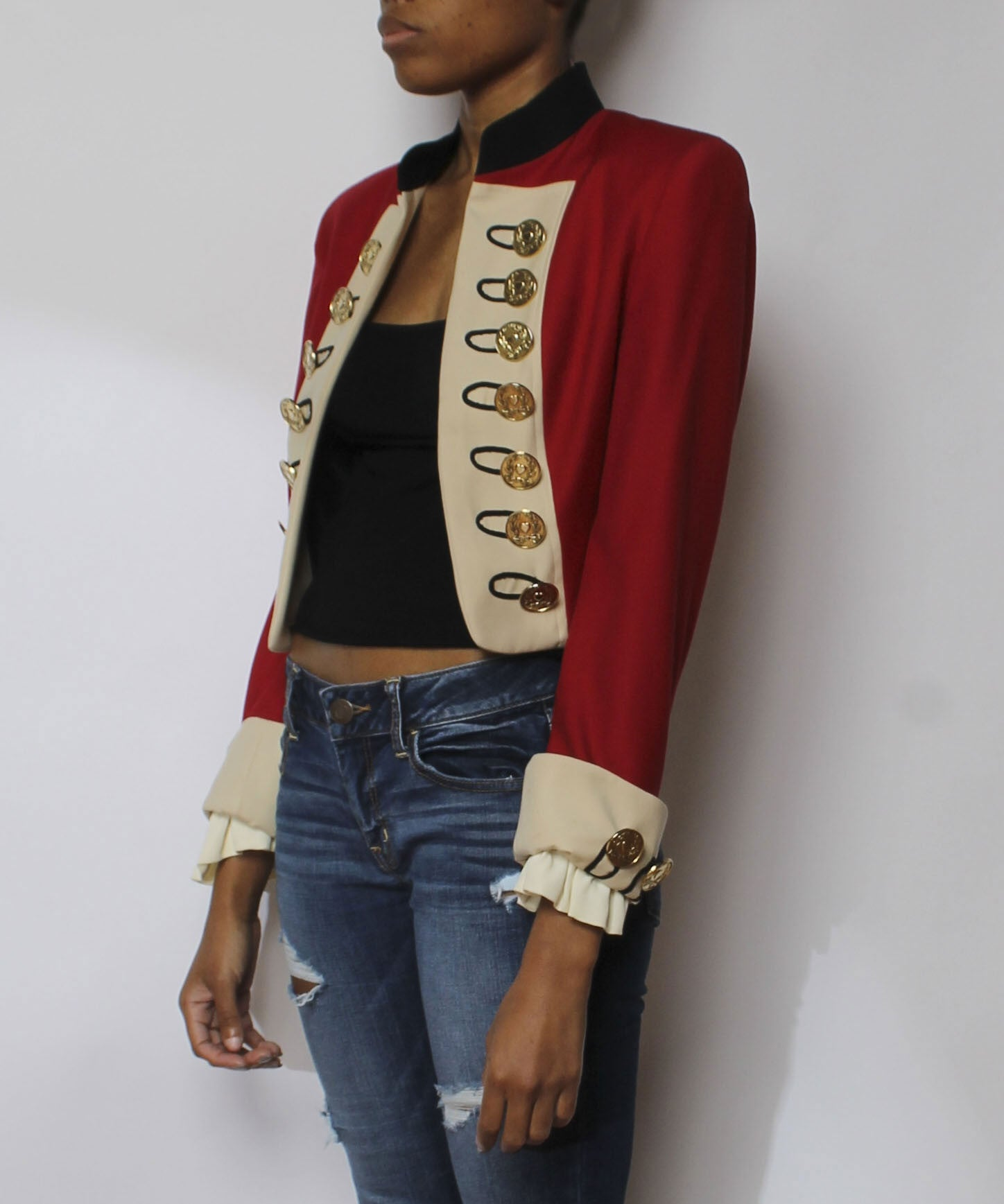 Moschino Cheap & Chic Cropped Marching Band Jacket