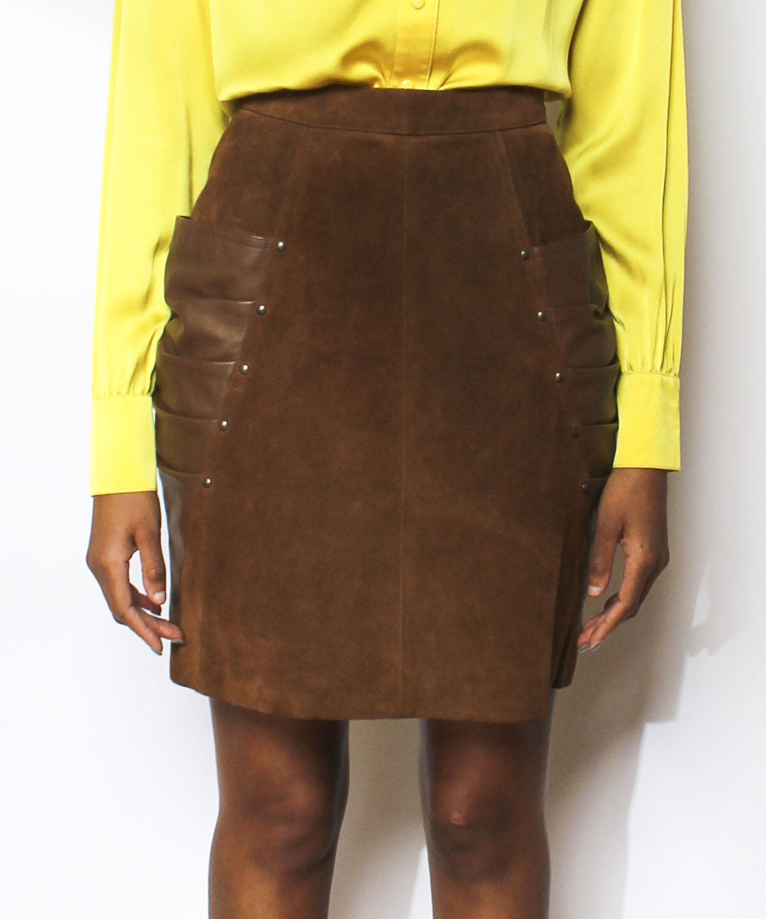 1980s Suede Leather Pencil Skirt - C.Madeleine's