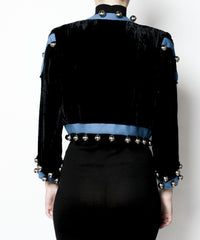 Yves Saint Laurent Velvet Cropped Jacket - C.Madeleine's