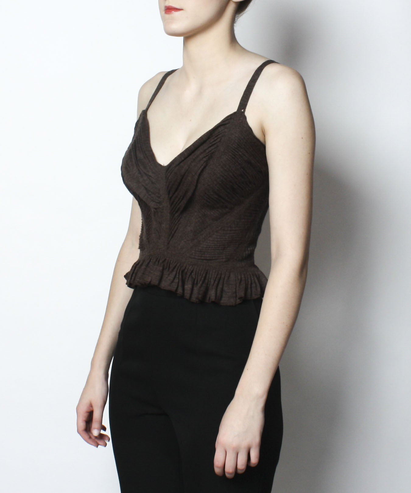 Jean Paul Gaultier Brown Wool Tank Top - C.Madeleine's
