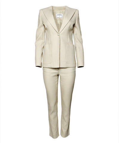 Chanel Cream Pant SuitChanel Cream Pant Suit