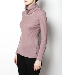 Jean Paul Gaultier Ribbed Lilac Turtleneck Sweater - C.Madeleine's