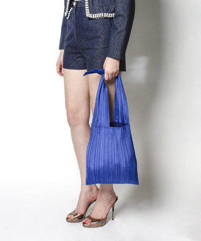 Issey Miyake Royal Blue Pleated Purse