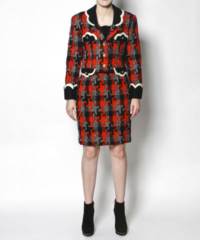 Moschino Plaid Suit Set