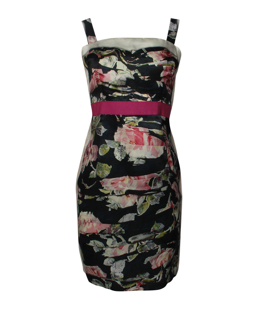 D&G Floral Print Cocktail Dress - C.Madeleine's