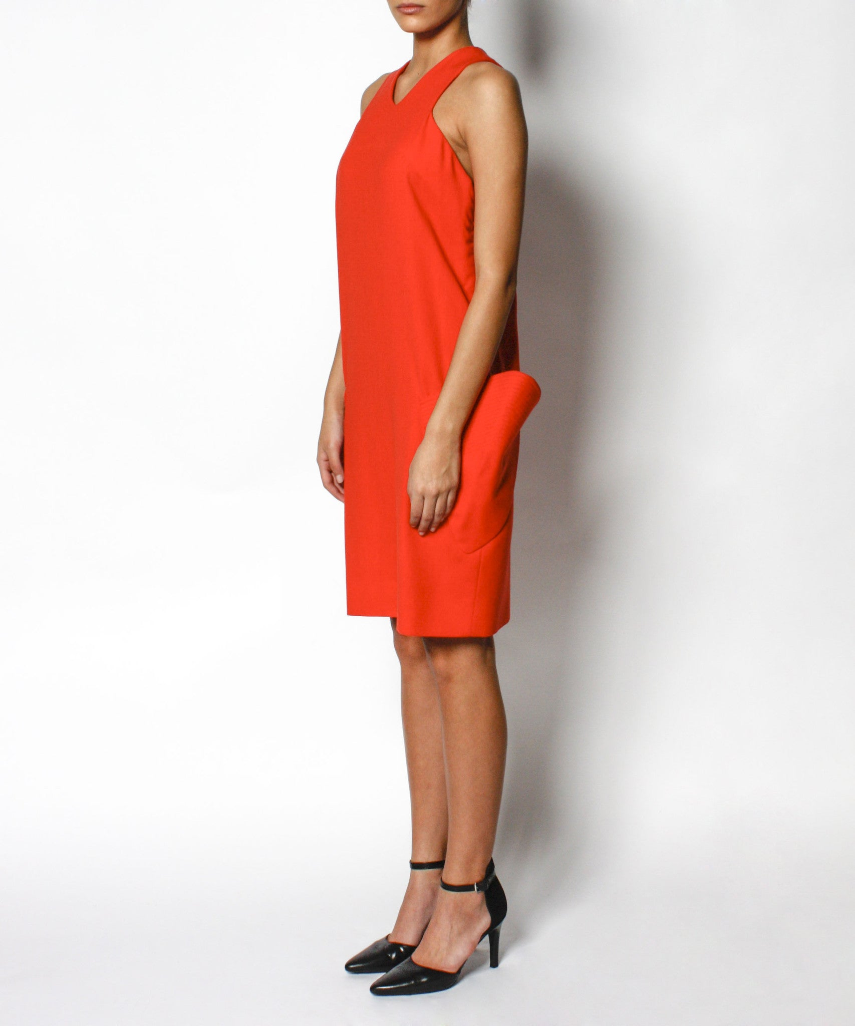 Gianni Versace 1980s Hot Orange Shift Dress